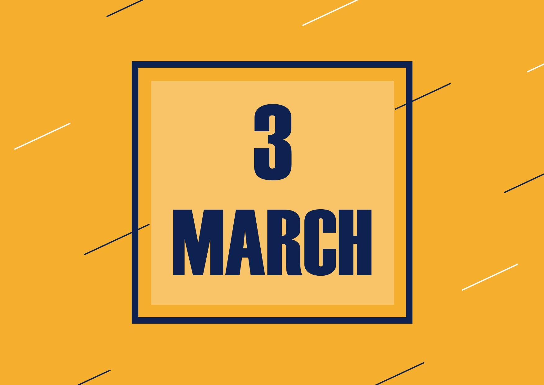 3月の営業のお知らせ
